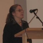 Historiker Anna Maria Forssberg föreläser på boksläpp