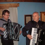 Bertil Skeri och Lars Mattsson-Frost underhåller